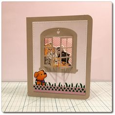 Art Impressions Rubber Stamps: Purrr-thday Set (4568): Handmade Birthday card. Fronts and Backs