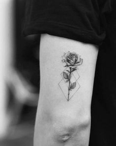 tattoo above elbow small / tattoo above elbow + tattoo above elbow crease + tattoo above elbow back of arm + tattoo above elbow small + tattoo above elbow words + tattoo above elbow women Tiny Rose Tattoos, Rose Tattoos For Women, Bff Tattoos, Cool Tattoos For Guys, Tattoos For Women Small, Mini Tattoos, Sleeve Tattoos, Body Art Tattoos, Tatoo Rose