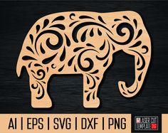 Elephant template, Engraved elephant, Elephant svg, Laser cut template, Cnc file, Papercut elephant, Animal template, elephant silhouette by laserCutTemplate on Etsy