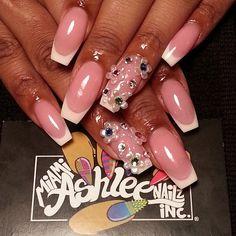Pink and White all acrylic on @1andonlygoldensunshyne and 3d flower swavorski combo  All appts require a $20 deposit that goes towards your service.  #idothis #ilovethisnaillife #dopeassnails #acrylicslayer #igdaily #idomythang #instanails #idothisnailthang #rhinestones #nailporn #nailfashion #nailartjunkie #nailgameswag #nailgameproper #nailart #nails #nailed  #funkylilnailtech #idonailsdaily #Nashvillehairstylist #nashvillehair #freehandart #Nashvillenails #nailartaddict #nasvillenailtech…