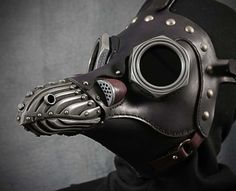 Steampunk Plague Doctor Mask with Lenses