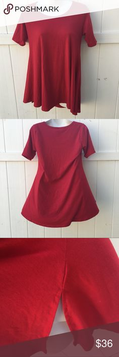 Lularoe Perfect Tee Size XXS Lularoe Perfect Tee Size XXS. Color is red and its in great condition. Feel free to ask any questions :) LuLaRoe Tops Tees - Short Sleeve