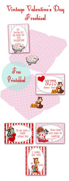 Free Vintage Valentines from http://yesterdayontuesday.com #valentines #valentinesday