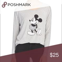 David Lerner x Mickey long sleeve t-shirt Gorges designer piece! Original $80! david lerner Tops Tees - Long Sleeve