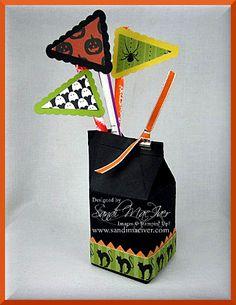 Halloween Mini Milk Carton die box created by Sandi MacIver