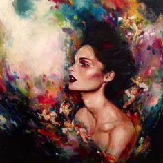 Katy Jade Dobson creates beautiful art x Painting Inspiration, Art Inspo, Inspiration Artistique, Mystique, Wildlife Art, Portrait Art, Face Art, Painting & Drawing, Watercolor Art