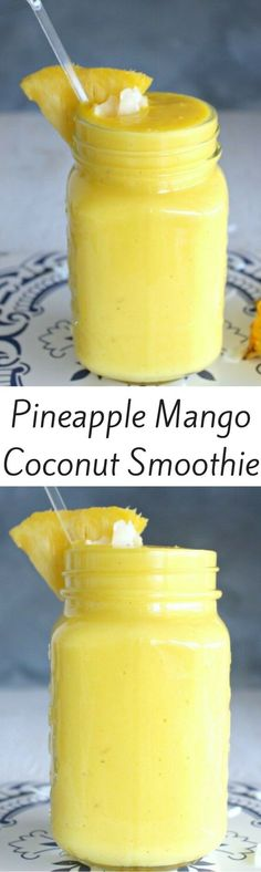 Pineapple, Mango and Coconut Smoothie