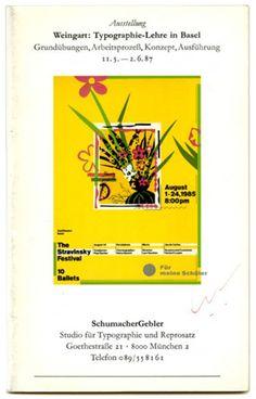 Wolfgang Weingart et al.: WEINGART: TYPOGRAPHIE-LEHRE IN BASEL. München: Studio für Typografie und Reprosatz, 1987.