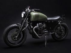 the tractor v75 - reconstructed italian police bike by venier