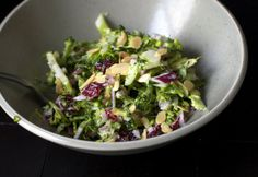 Easy Christmas Party Food Ideas - Broccoli Slaw With Cranberries and Toasted Almonds - Click Pic for 20 Delicious Holiday Appetizer Recipes