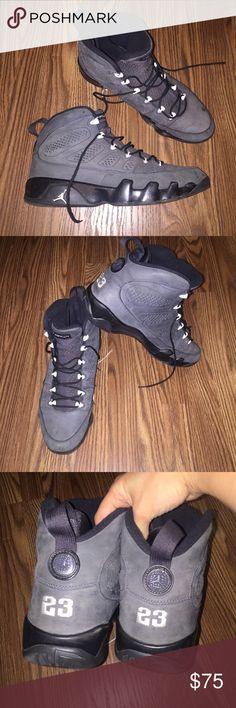 Air Jordan retro 9 shoes Air Jordan Shoes size 13 in men. Gently worn condition. 100% authentic. Retro 9 Anthracite Jordan Shoes Athletic Shoes