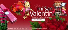 Entrega de flores día de San Valentín, flores con descuento 14 de febrero, peluches y regalos a domicilio. Regalos para el