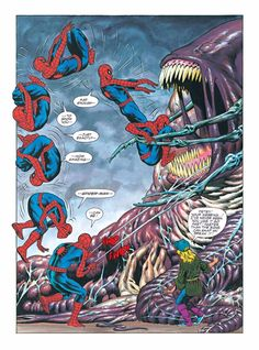 """page 42 from Marvel Graphic Novel """"The Amazing Spider-Man in Hooky"""" by Bernie Wrightson, Michelle Wrightson, Susan K. Putney and jim Novak Marvel Graphic Novels, Marvel Comic Books, Marvel Dc Comics, Marvel Heroes, Marvel Characters, Comic Books Art, Comic Art, Lego Spiderman, Amazing Spiderman"""