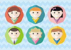 Set of Round Avatars by robuart on Creative Market