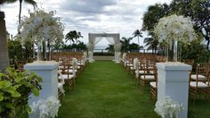 Wedding ceremony at the Four Seasons Maui.