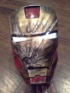 Custom iron man helmets at Darren's Iron Man designs on Facebook. Www.facebook.com/Darrens-iron-man-Designs/495227540545017
