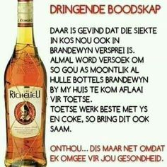 South African Dishes, Afrikaanse Quotes, Goeie Nag, Qoutes, Words, Diy Makeup, Tube, Comic, Cat