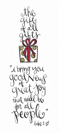 Faith - The gift of all gifts 'I bring you good news of great joy