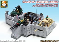 https://flic.kr/p/27fvaQY | HQ COMMAND CENTER INSTRUCTIONS | Building instructions for my cutosm / Moc GI Joe Headquarters command center playset are ready and on sale on my website : www.baronsat.net/baronshop/MILITARY/Yo-Joe-Headquarters-C...  Just in time for my summer promo, see here : www.flickr.com/photos/8107354@N03/28970700217/in/datepost...  And yes, instructions for the tank and the jeep are included... and image to print stickers too ;)