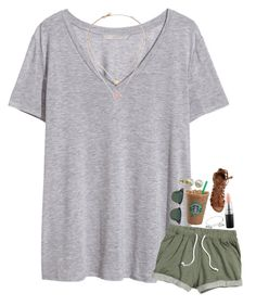 """""""School spirit week!"""" by rachiepoo13 ❤ liked on Polyvore featuring H&M, MAC Cosmetics, Alex and Ani, O'Neill, Michael Kors, Majorica and Ray-Ban"""