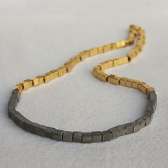 Grommet Necklace Gold Plate