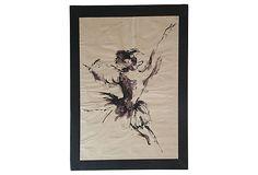 Dancer on OneKingsLane.com. Original vintage art from Anna Hackathorn Interior Design.