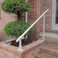 Best Standard Single Post 1 Or 2 Step Railing For Stairs Steel 640 x 480