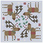 Deer reindeer Brooke cross stitch.