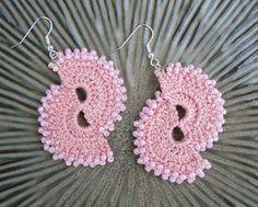 Lovely just lovely, #crocheted double fun #earrings #pattern. . . .