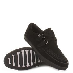 6789cd21527 Tuk shoes black mens unisex rocker sneaker creepers flat shoes retro size  6-12