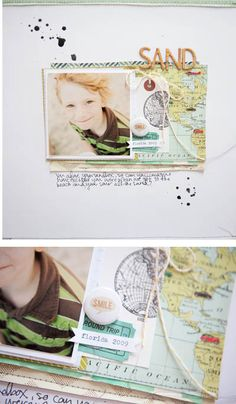 #papercrafting #scrapbook #layout idea: by marcy penner for swissgirldesigns