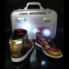 Iron Man sneakers  @Kindra Renee, Tim would LOVE these!!