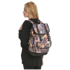 Doctor Who Exploding TARDIS Slouch Backpack   Hot Topic ($10) ❤ liked on Polyvore featuring bags, backpacks, slouch bag, print bags, drawstring backpack bags, slouchy backpack and drawstring bag