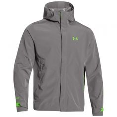 Find the Under Armour Men's Sonar Rain Jacket - Storm/Gecko Green by Under Armour at Mills Fleet Farm.  Mills has low prices and great selection on all Coats & Jackets.