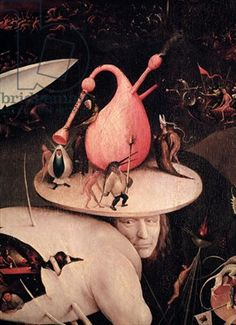 Hieronymus Bosch,The Garden of Earthly Delights: Hell, right wing of triptych, c.1500 (oil on panel) (detail)