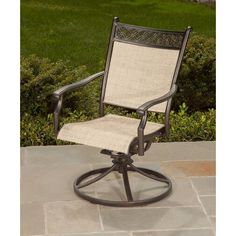 Campbell Sling Dining Swivel Chairs 2 Pack Backyard