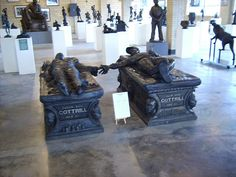 These Bronze Funeral Monuments are from Zanesville Ohio.