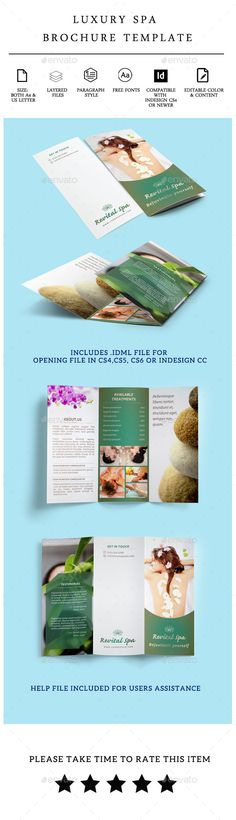 Keep a simple and clean spa brochure design look Design - cleaning brochure template
