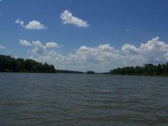 The Illinois River at Havana, Illinois.