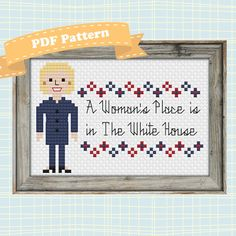 Hillary Clinton Cross-Stitch Pattern: A by SweetPrairieSkies
