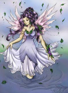 Faerie Art | Violet Faerie, Stephanie N. Payne, SciFi Fantasy Art