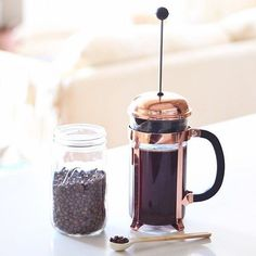 Perfect Monday Limited Stock of the Bodum Copper French Press in Australia! Shop Online at: @alternativebrewing - link in bio #AlternativeBrewing & TAG us to be featured  by @justinecelina by alternativebrewing