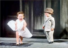 Little Marilyn...not sure if this is the most appropriate thing - but it made me giggle none the less!!