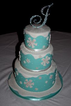 winter onederland cake ideas | Winter Wonderland Cake: Sweet 16 | Sweet 16 ideas