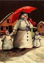 .snow lady with her snow children