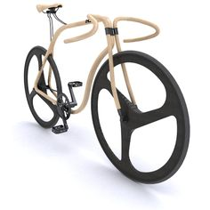 "Bike out of beech wood by Thonet and Andy Martin. Sleek, ergonomic fixed gear bike. The bike, made out of bent beechwood, comes with carbon-fiber wheels and has ""sprung rod supports to reinforce joints and major stress areas in the frame. Wooden Bicycle, Wood Bike, Velo Design, Bicycle Design, Design 24, Creative Design, Velo Quebec, Bike Craft, Velo Cargo"