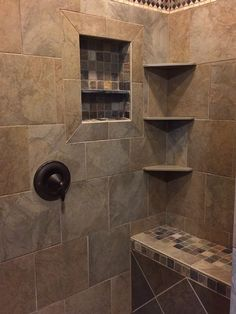 Master Bath -- Tile shower with bench  (available with rental of Master Suite)