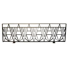 For Sale on - Albert Chase McArthur ornamental railing designed in 1928 for the Arizona Biltmore in Phoenix, Arizona. The elegant line of abstract A's and reverse triangles Metal Gates, Metal Railings, Metal Screen, Balcony Grill, Balcony Railing, Iron Fence Panels, Arizona Biltmore, Balustrades, Grill Design