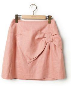 Bon mercerie(ボンメルスリー)「フレアスカート(スカート)」 ピンク
