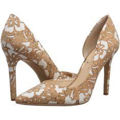 Cobalt Floral Print Cork Platform Heels @ Cicihot Heel Shoes online store  sales:Stiletto Heel Shoes,High Heel Pumps,Womens High Heel Shoes,Prom Sho…